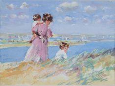 Flynn, Dianne Elizabeth b1939 British AR Family on a Beach (Strandleven?).