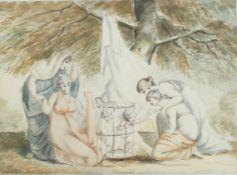 Cosway, Richard 1742-1821 British Ladies and Babies.