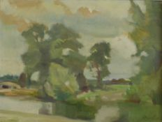 Dunlop, Ronald Ossary Irish/British 1894-1973 AR River.