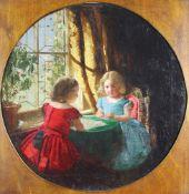 Muckley, William Jabez 1837-1905 British Two young Girls.