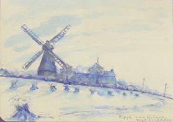 White, Franklin 1892-1975 British AR, Windmill, Ripple near Walmer near Kingsdown.