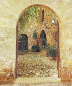 Witcomb, Phillip Contemporary British AR, Courtyard to the Rectory of the Parish Church of San Andre
