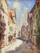 Morley, Thomas William 1859-1925 British, The Butler Tower, Old Rouen.