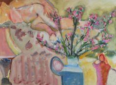 Blackadder, Elizabeth Violet RA RSA DBE b1931 British attributed to, Still Life of Flowers.