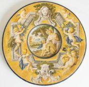 Grande piatto in ceramica, Italia, inizio del XX sec.