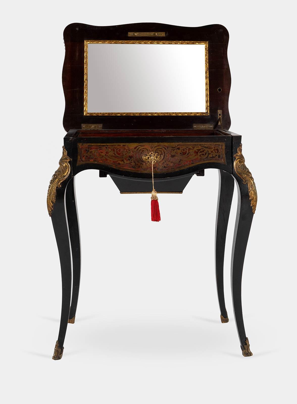 Tavolino in stile Boulle, fine del XIX - inizio del XX sec. - Image 2 of 2