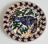 Regia Scuola Faenza, Piatto circolare in ceramica, Anni '30.