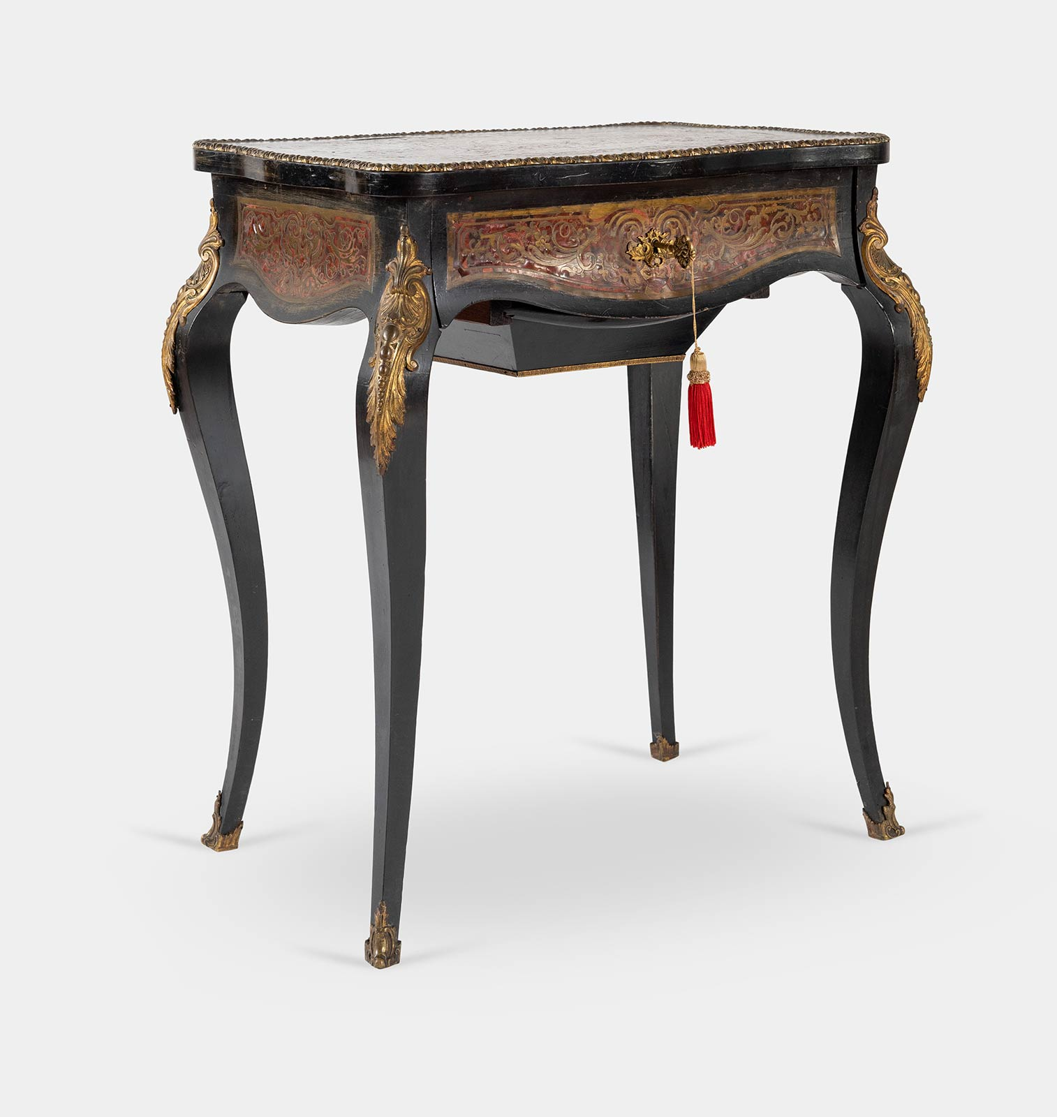Tavolino in stile Boulle, fine del XIX - inizio del XX sec.