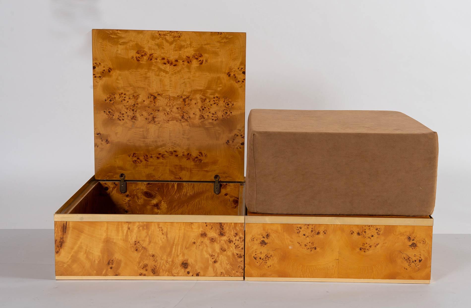 Fratelli Turri – Carugo, Due contenitori con pouf Flore A, Collezione Privilège, 1975. - Image 2 of 6