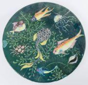 Pietro Melandri (Melandri-Focaccia) - Faenza, Piatto da parata in ceramica, Anni '30.