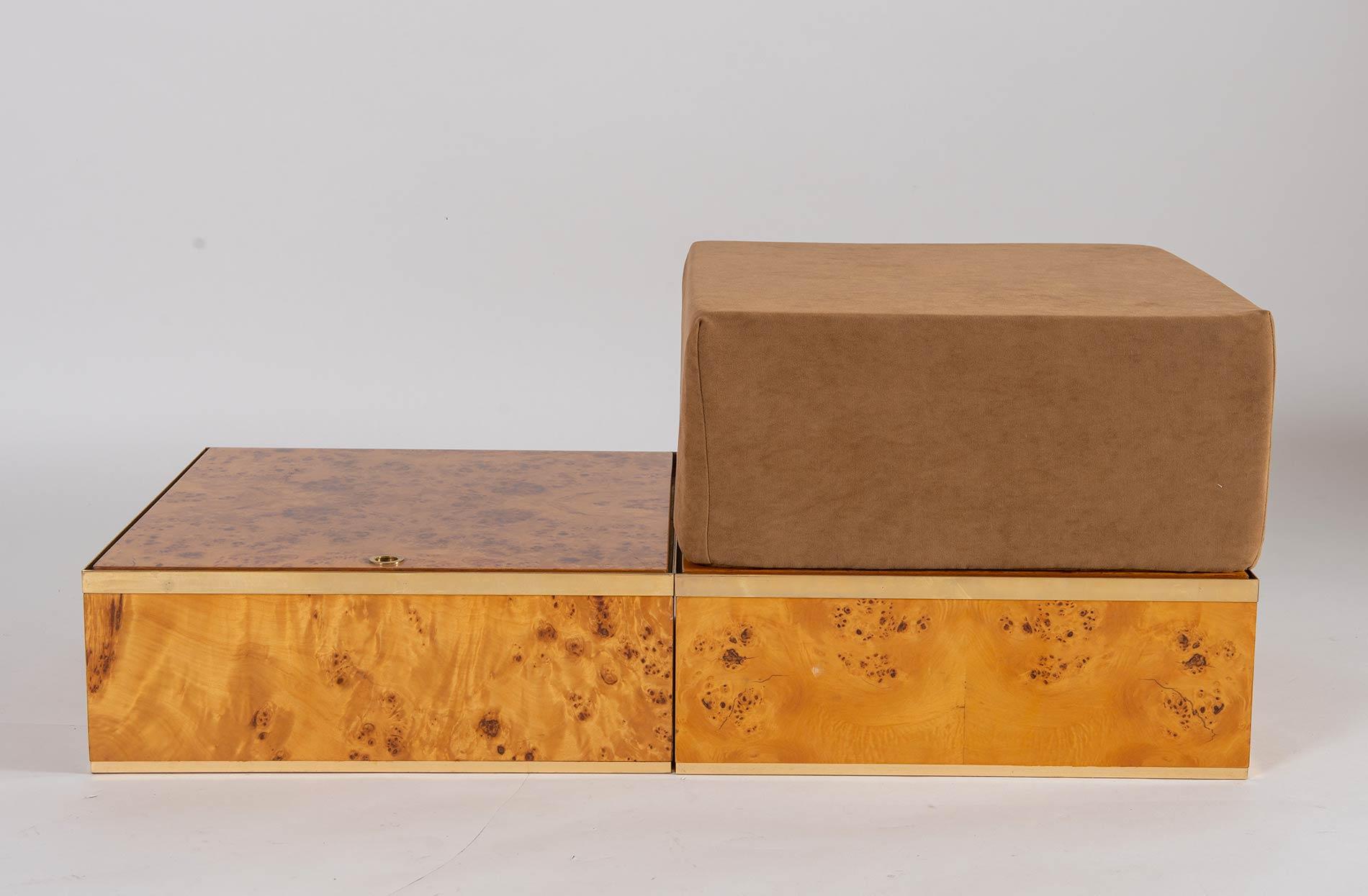 Fratelli Turri – Carugo, Due contenitori con pouf Flore A, Collezione Privilège, 1975. - Image 4 of 6