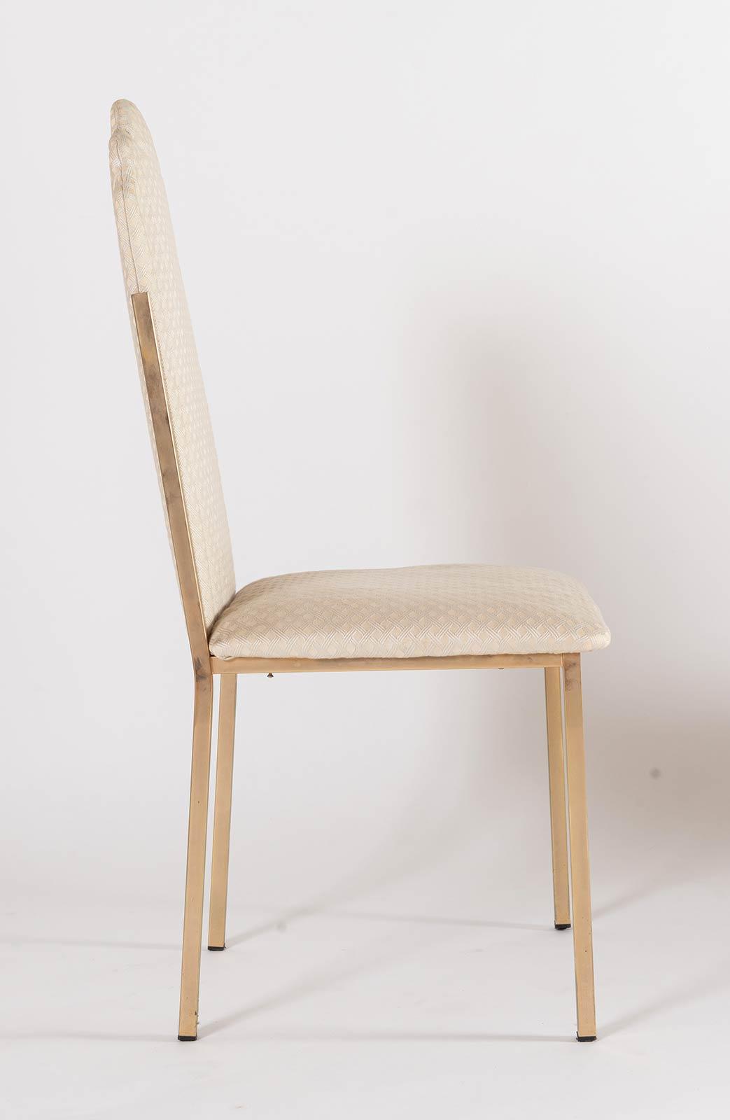 Alain Delon per Maison Jansen, Otto sedie AD 026, Anni '70. - Image 5 of 6
