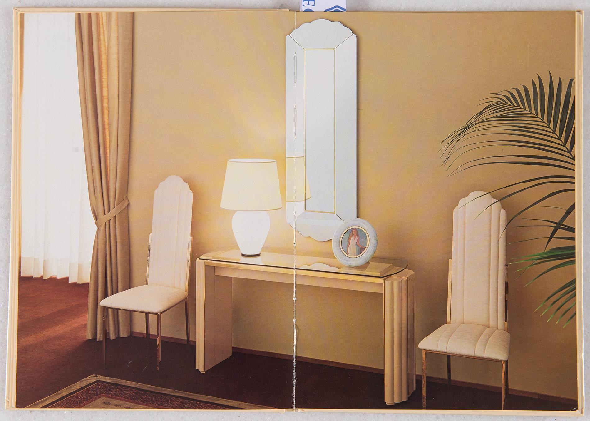 Alain Delon per Maison Jansen, Otto sedie AD 026, Anni '70. - Image 6 of 6