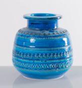 Aldo Londi per Flavia Bitossi – Montelupo, Vaso di forma schiacciata della serie Rimini Blu, Anni