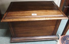 A mahogany coal box Condition Report: Available upon request