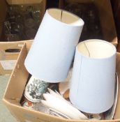 Three boxes of assorted glassware and ceramics (3) Condition Report: Available upon request