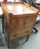 A Georgian mahogany pot cupboard Condition Report: Available upon request