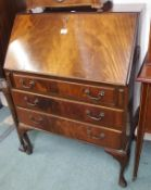A walnut writing bureau Condition Report: Available upon request