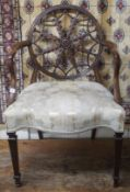 A mahogany Hepplewhite style wheelback chair Condition Report: Available upon request