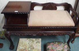 A carved mahogany telephone table Condition Report: Available upon request