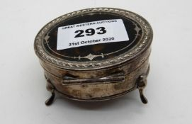 A silver and tortoiseshell jewellery box (def) Condition Report: Available upon request
