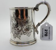 A silver mug, London 1834, 8.5cm high, 149gms Condition Report: Available upon request