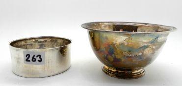 two silver bowls, London 1898, 11.5cm diameter and Sheffield 1895, 8.2cm diameter, 195gms total