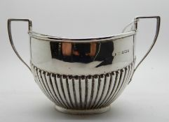 A silver sugar bowl, Birmingham 1909, 169gms Condition Report: Available upon request