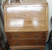 A ladies mahogany bureau Condition Report: Available upon request