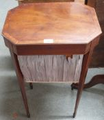 A mahogany work table Condition Report: Available upon request