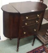 A W K Cowan, Chicago work table with three drawers Condition Report: Available upon request