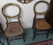 A pair of parlour chairs (2) Condition Report: Available upon request