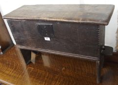 An oak bible box, 48cm high x 78cm wide x 23cm deep (def) Condition Report: Available upon request