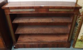 A Victorian rosewood open bookcase, 86cm high x 117cm wide x 31cm deep Condition Report: Available