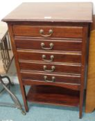 A mahogany music cabinet Condition Report: Available upon request