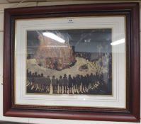 """An Oil by P.W.Reid """"Bonfire"""" Condition Report: Available upon request"""