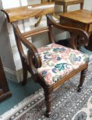 A Regency mahogany open armchair Condition Report: Available upon request