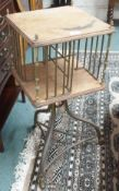 A brass and mahogany book table Condition Report: Available upon request