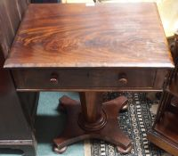 A Victorian mahogany sewing table with single drawer Condition Report: Available upon request