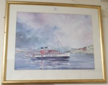 """A Ron Wilson 202/500 signed print """"Waverley steaming home"""" Condition Report: Available upon request"""