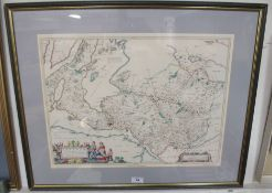 A framed map Condition Report: Available upon request