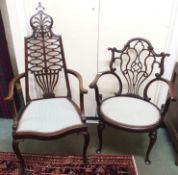 Two Victorian mahogany parlour chairs (2) Condition Report: Available upon request