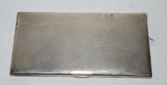 A silver cigarette case, 15cm x 8.5cm, 251gms Condition Report: Available upon request