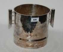 An Italian hammered silver plated twin handled ice pail Condition Report: Available upon request