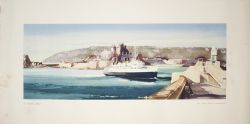Carriage print ST.HELIER, JERSEY from an original water colour painting by Claude Buckle from the