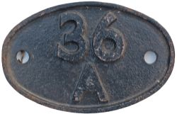 Shedplate 36A Doncaster 1950-1973. Restored a long time ago.