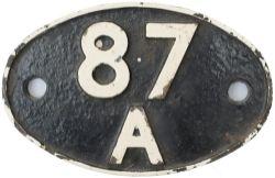 Shedplate 87A Neath Court Sart 1950-1965 with sub sheds Glyn Neath and Neath Bridge Street to