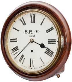 Midland & Great Northern Railway 10 inch oak cased going barrel railway clock, supplied to the M&