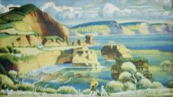 Carriage print RED DEVON by Adrian Allinson from the Southern Railway Series. In very good