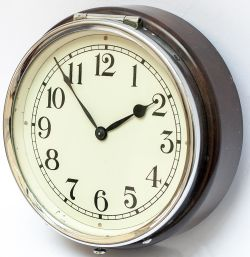 GWR 6in 3452 GWR 6 inch dial wall mounted Clock with a bakelite case and chromed cast bezel